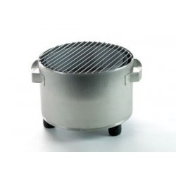 ROUND BBQ STAINLESS STEEL BRUSHED